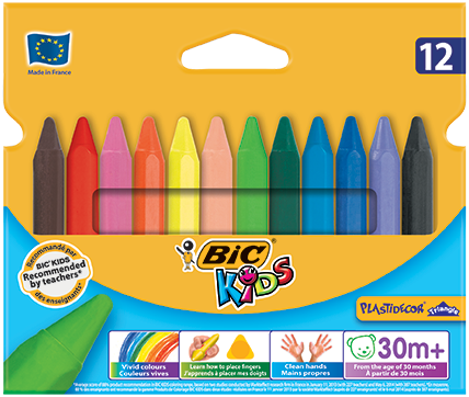 PLASTIDECOR® TRIANGLE crayons